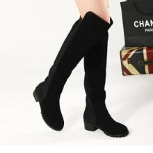 供应2012冬款女靴长靴小辣椒高筒靴过膝长靴呛口过膝靴平底女长靴子批发