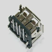 供应USB短体AF母座90度卷边反向胶芯