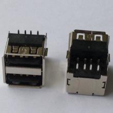 USB接口 AF双层沉板90度贴板 高端接口卷边铜壳 正向/反向