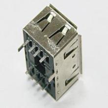 USB短体 A/F双层母座10.4直插180度可带边卡位图片