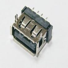 USB短体 AF90度10.6插板式端子SMT胶芯LCP耐温