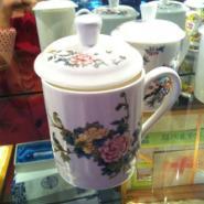 武汉大量批发陶瓷杯定制手绘白领杯图片
