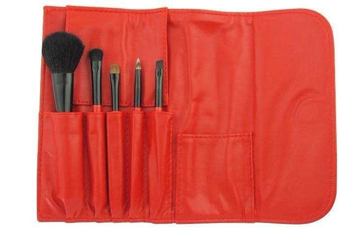 化妆刷图片 化妆刷样板图 5支彩妆羊毛化妆刷套装-市