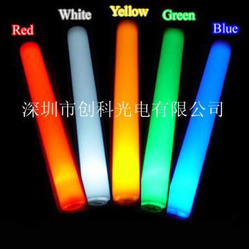 供应海绵棒 led七彩发光棒 荧光棒 加油助威棒 可印logo
