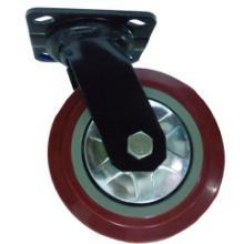 供应悦顺高品质定向万向聚胺脂脚轮、重型工业轮 配静音支架