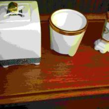 日本高档白瓷香道用具龙头三件套批发