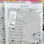 弹力棉卡通小熊前开连身衣哈衣图片