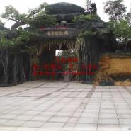 供应铜仁市哪里能做仿木栏杆 假山 水泥假山仿木护拦等园林施工设计