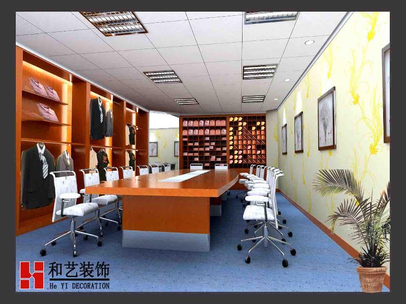 百来平米的办公室装修图片