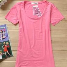 长款大码t恤长袖加工_广州外贸女式t恤制衣厂家H21423批发