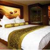 供应星级宾馆酒店床上用品 全棉贡缎纯白四件套 定制LOGO
