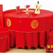 高档餐厅台布台裙椅套定制多种面料图片