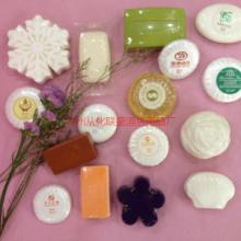供应酒店客房专用 白色香皂 入环保袋 定制盒装印LOGO 珠光膜包装一次性小香皂批发