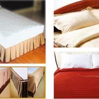 供应酒店布草厂家客房专用床上用品 定制酒店LOGO床单被套枕套全棉贡缎床上用品