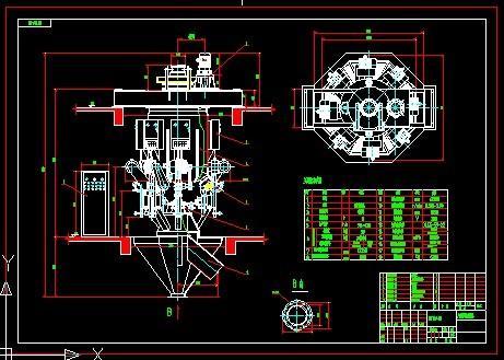 包装机械cad图纸图片|包装机械cad图纸样板图|包装