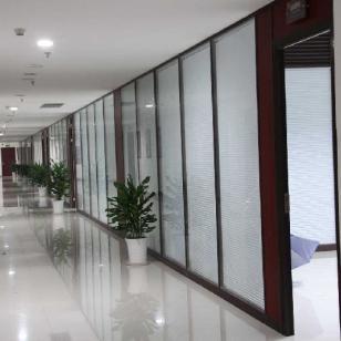 重庆方沃尔中空双玻百叶隔断墙图片