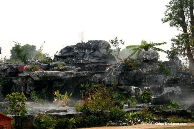 供应湖南室外假山景观设计施工图片