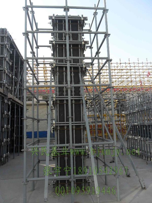 化刚性建筑模板支撑组合结构产皮系列之框架柱模板