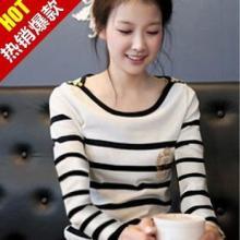韩版黑白条纹衫复古海魂衫