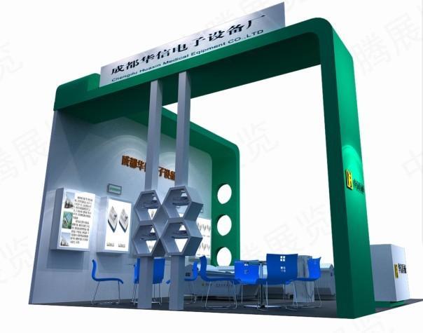 供应成都展览大方柱铝料展台设计公司图片