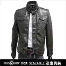 外贸专供立领修身男装厂家直销男式夹克高档皮衣皮外套批发