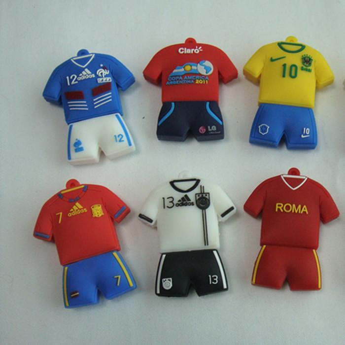 供应巴西足球球衣u盘外壳 专业开模设计款式 供应多款现货 可批发图片