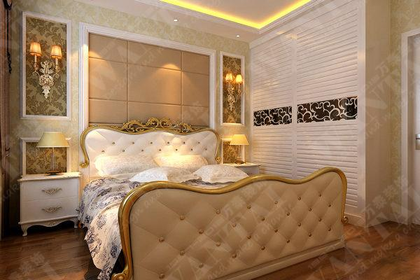 效果图_效果图供货商_供应仁和春天简约欧式卧室装修图片
