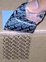供应揭开留字VOID防伪不干胶材料 揭开留字VOID防伪标签
