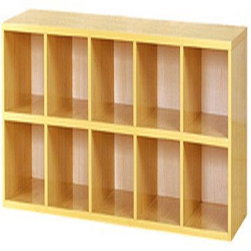 厂家直供幼儿园原木领域教具柜报价图片