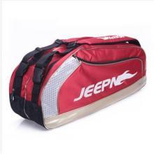 供应双肩带六支装专业高级羽毛球拍包批发