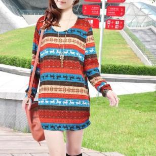 深圳时尚女式秋装羊绒长袖连衣裙图片