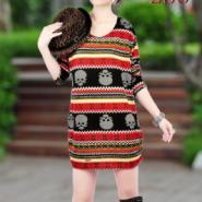 广东女式秋装羊绒连衣裙低价批发图片