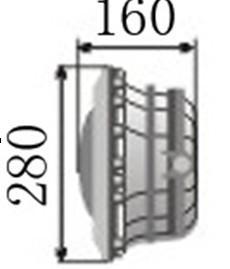 供应6嵌入式泳池灯-卤素灯泡300W