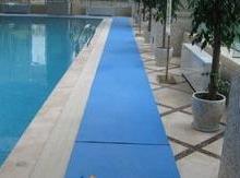 供应北京游泳池排水地垫/泳池防水地胶批发