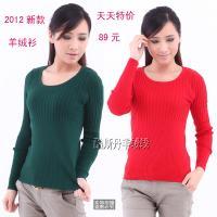女式新款低圆领羊绒衫秋冬羊毛衫