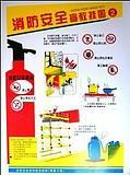 供应消防安全挂图一套6张安全警示图