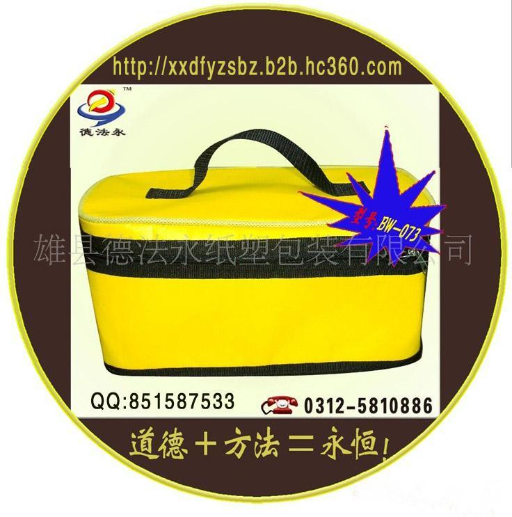 野餐冰包厂家定做BW-073拉链封口无纺布 珍珠棉饭盒保鲜保温包