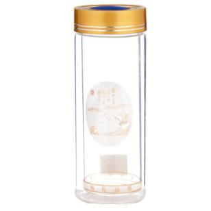 金华斯奈尔小矮双层玻璃保温杯图片
