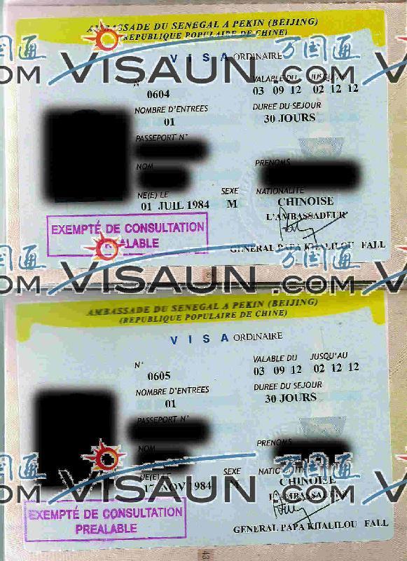商务签证图片|商务签证样板图|商务签证