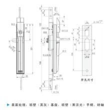 供应销售机械电柜门锁MS830锌合金平面锁/拉杆锁/连杆锁/华赛柜锁批发