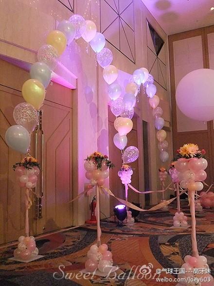 供应北京氦气球气球拱门气球造型 北京氦气球拱形门价格