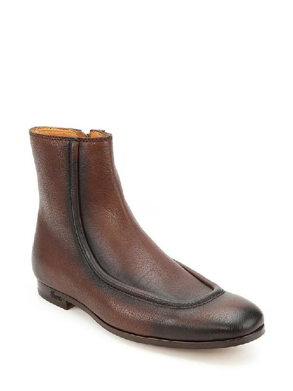 马丁/GUCCI古琦棕色牛皮材质男士时尚马丁靴图片
