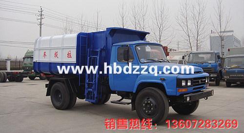 供应湖南东风140挂桶式垃圾车图片