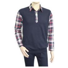 供应真盾8031衬衫款时尚男士保暖内衣内衣套装批发