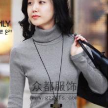 供应广州沙河加厚高领毛衣外套便宜批发时尚开衫长款毛衣外套一手货源批发批发