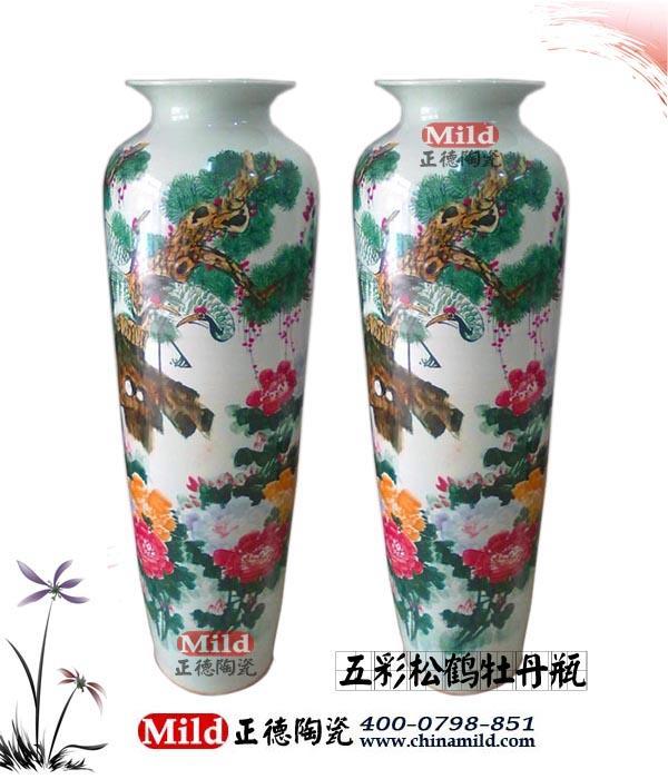 中国红大花瓶,景德镇红瓷大花瓶,中国红落地大花瓶