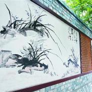 兰州海峰墙体彩绘古建彩绘牌匾园林图片