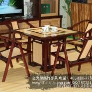 富贵茶桌/茶椅批发-竹家具厂家图片