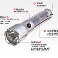 1W大功率太阳能铝合金手电筒价格图片