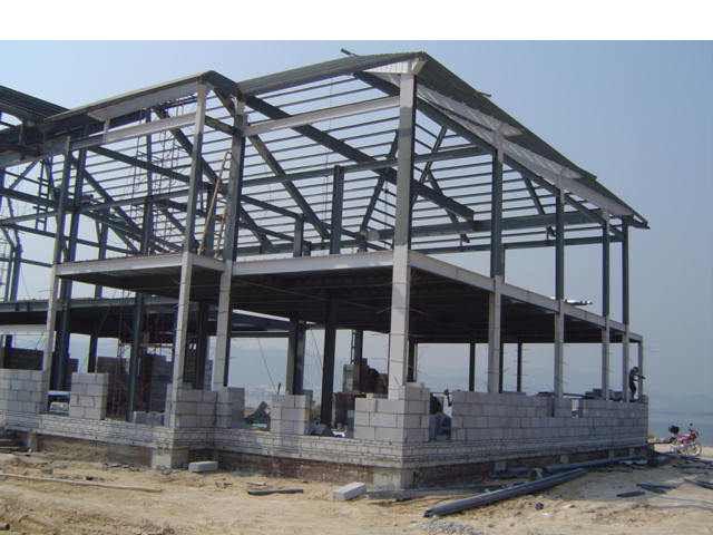 二层钢结构办公楼图纸,钢结构办公楼设计,钢结构办公楼效果图,高清图片